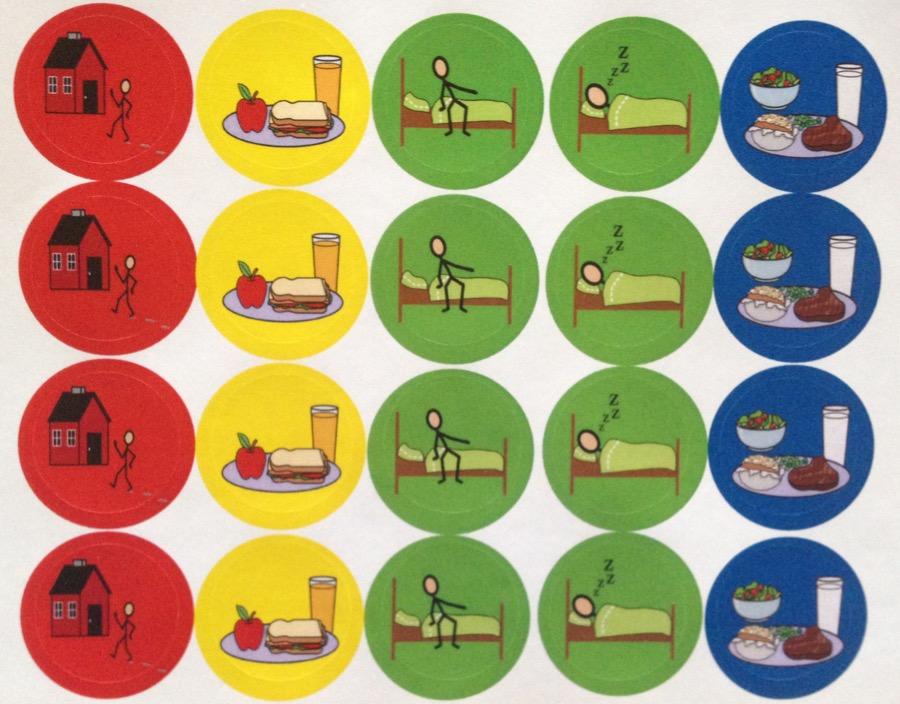 stickertjes tcm klok voor mensen met een dag- en nachtritme achterstand